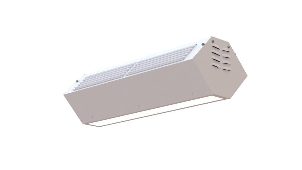 Luminária UV Upper Room com sistema de purificação germicida do ar