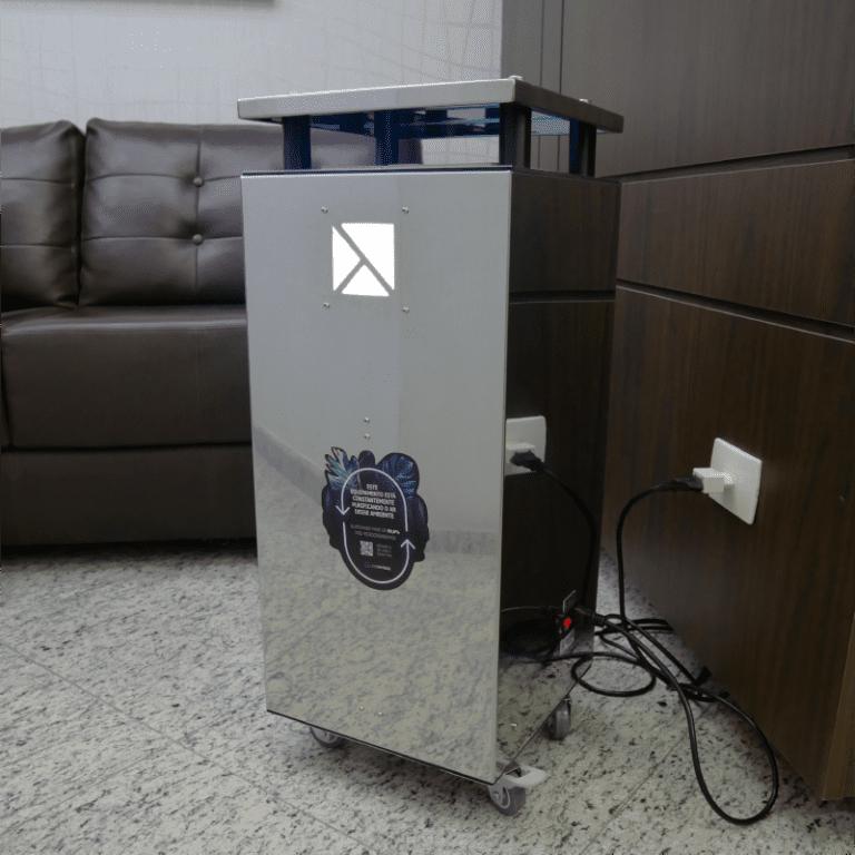 UV Air instalado em sala de espera de clínica