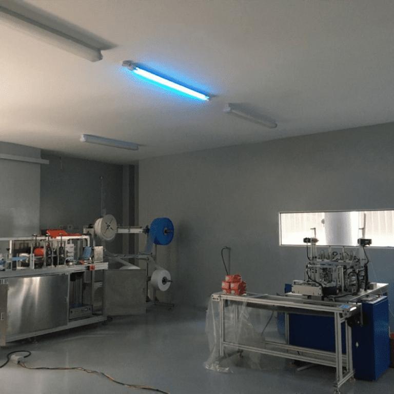 UV Room instalado em ambiente de produção