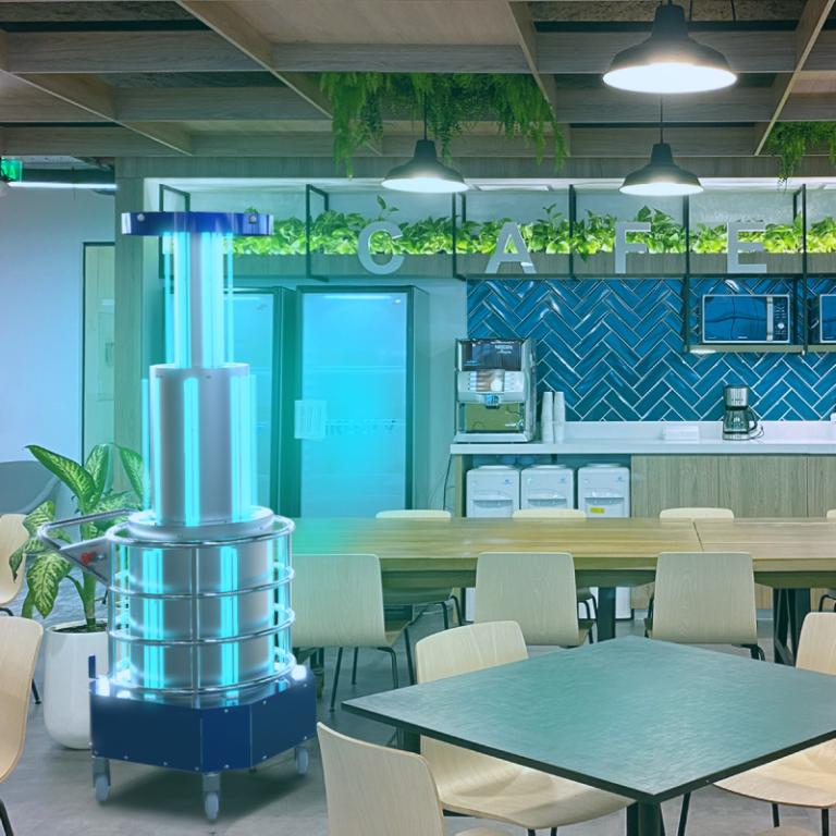 UV Room Max é usado para fazer desinfecção em restaurante