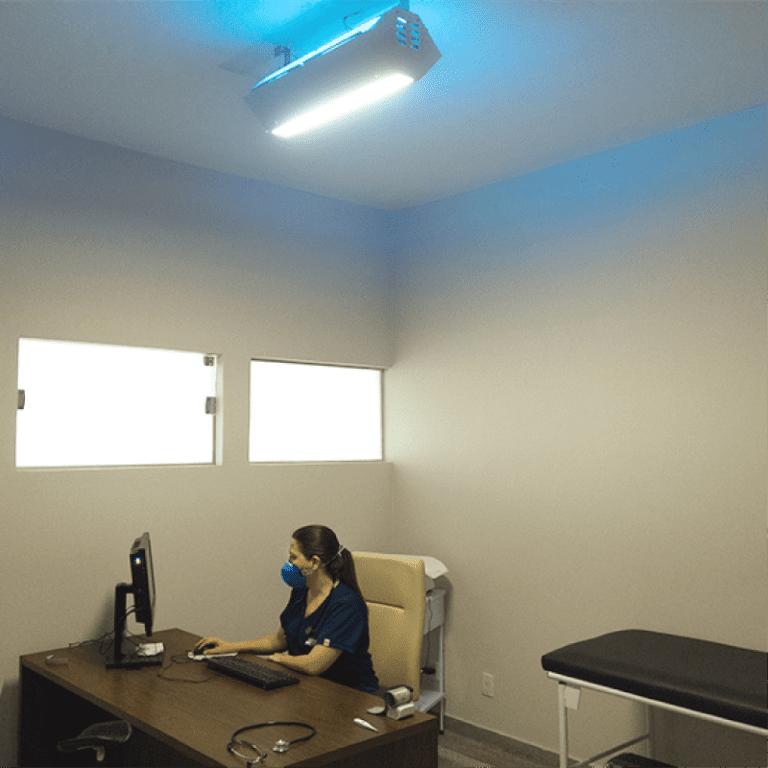 UV Upper Room instalado em consultório médico
